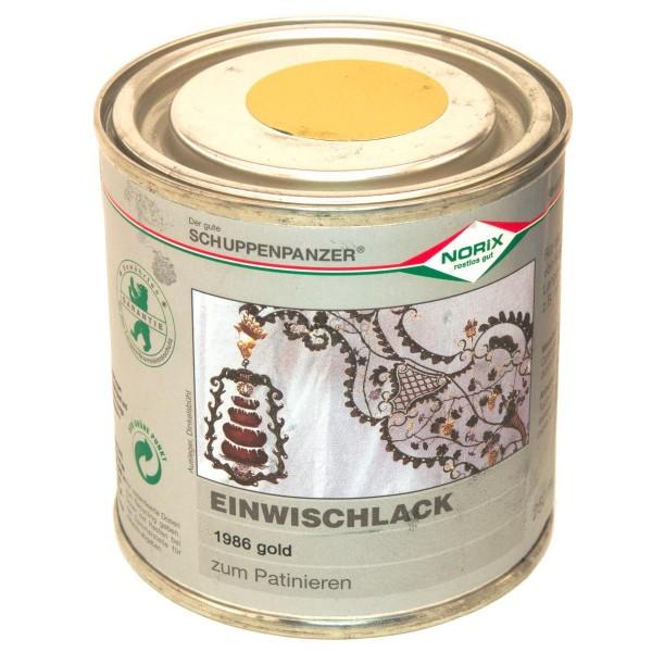 Schuppenpanzer Einwischlack 250 ml gold