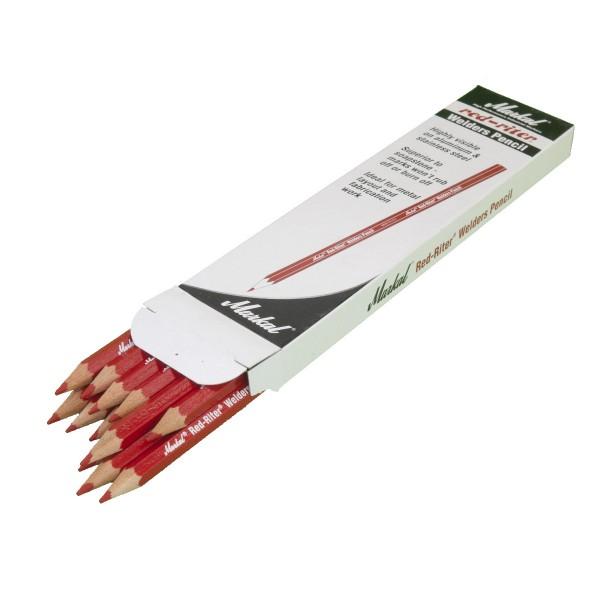 Schweissergriffel Stift rot, Pack mit 12