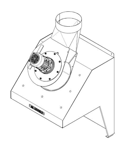 Rauchabsaugung Typ A-15.4 (400V, 45°)