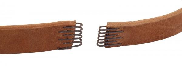 Montage Lederflachriemen und Schließklammer