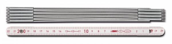 Metall-Maßstab, 2 m, alufarben, Linkshänder