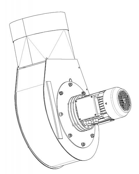Rauchabzugsventilator G-15.4 (400V, gerade, 1400 U/min)