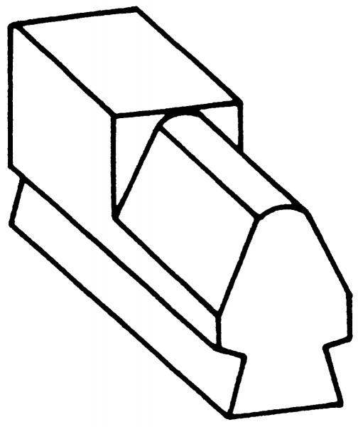 Recksattel flach / kegelig Nr. 2210B