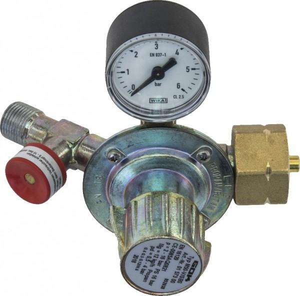 Kleindruckregler 0-4 bar, Shell-Anschluss