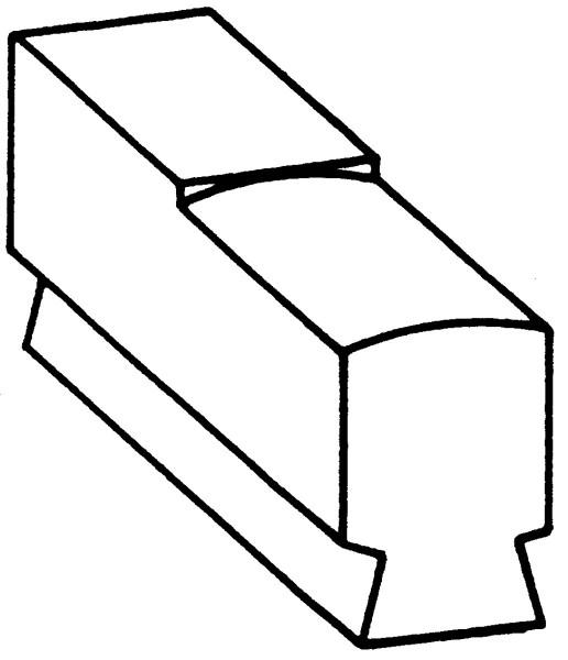 Recksattel flach / ballig Nr. 2412B