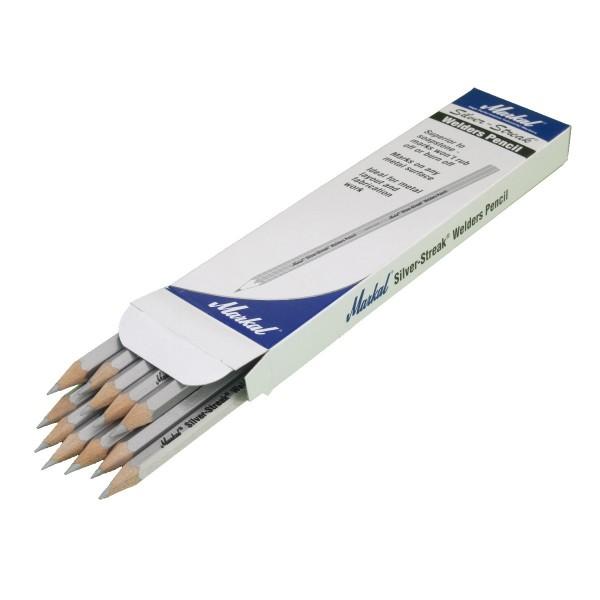Schweissergriffel Stift silbern, Pack mit 12