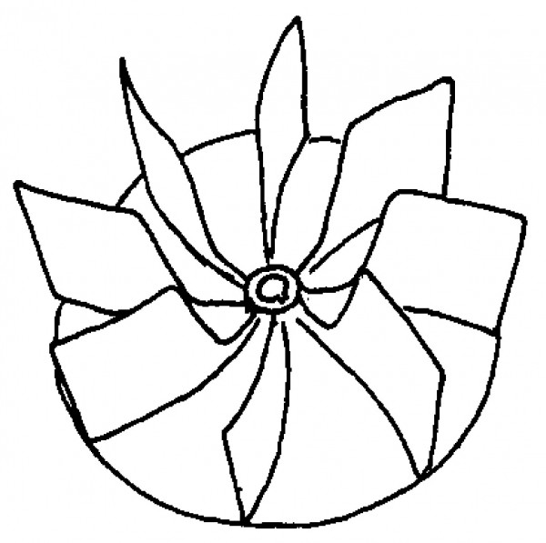 Ventilatorlaufrad ø 305 mm
