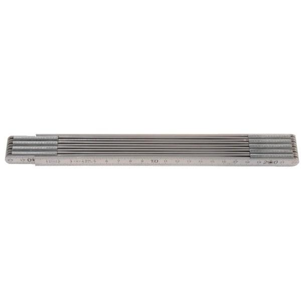 Metall-Maßstab, 2 m, alufarben