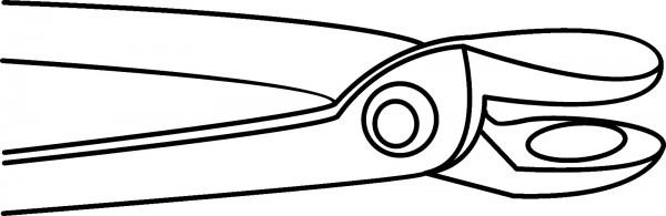 Hufschmiedezange 6 mm, TC 316